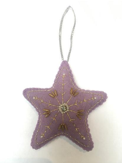 Christmas star, lilac