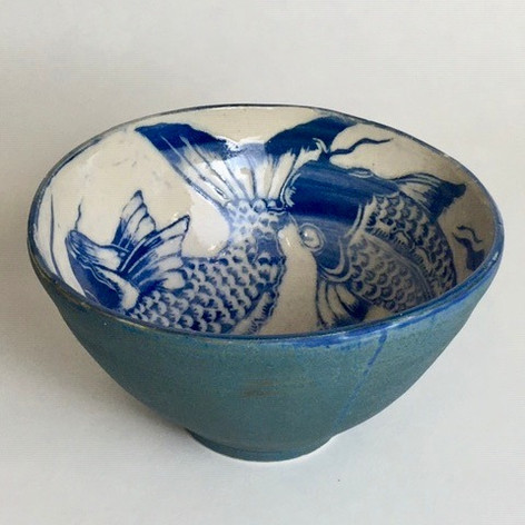 Stoneware Fish Bowl