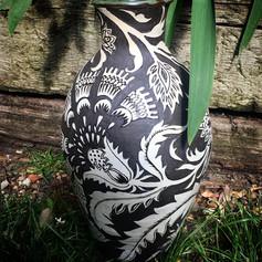 Stoneware India vase