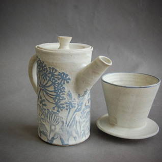 Wild grasses coffee pot with filter, £95