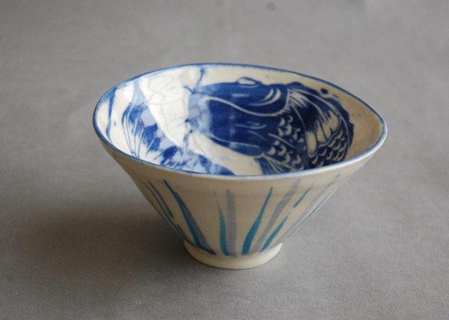 Stoneware Fish bowl, 13cm