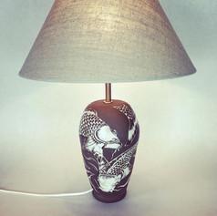 Koi carp lamp base