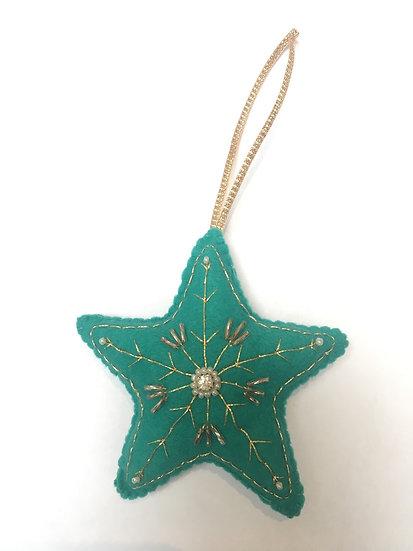 Christmas star, turquoise