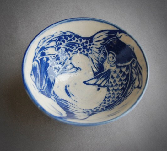 Stoneware Fish bowl 12cm