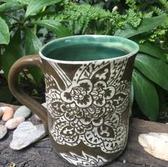 Stoneware India mug