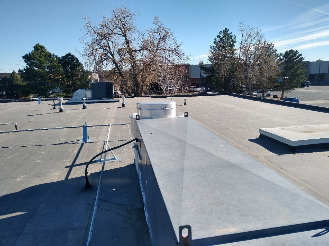 Full EPDM replacement and Metal Awning Install