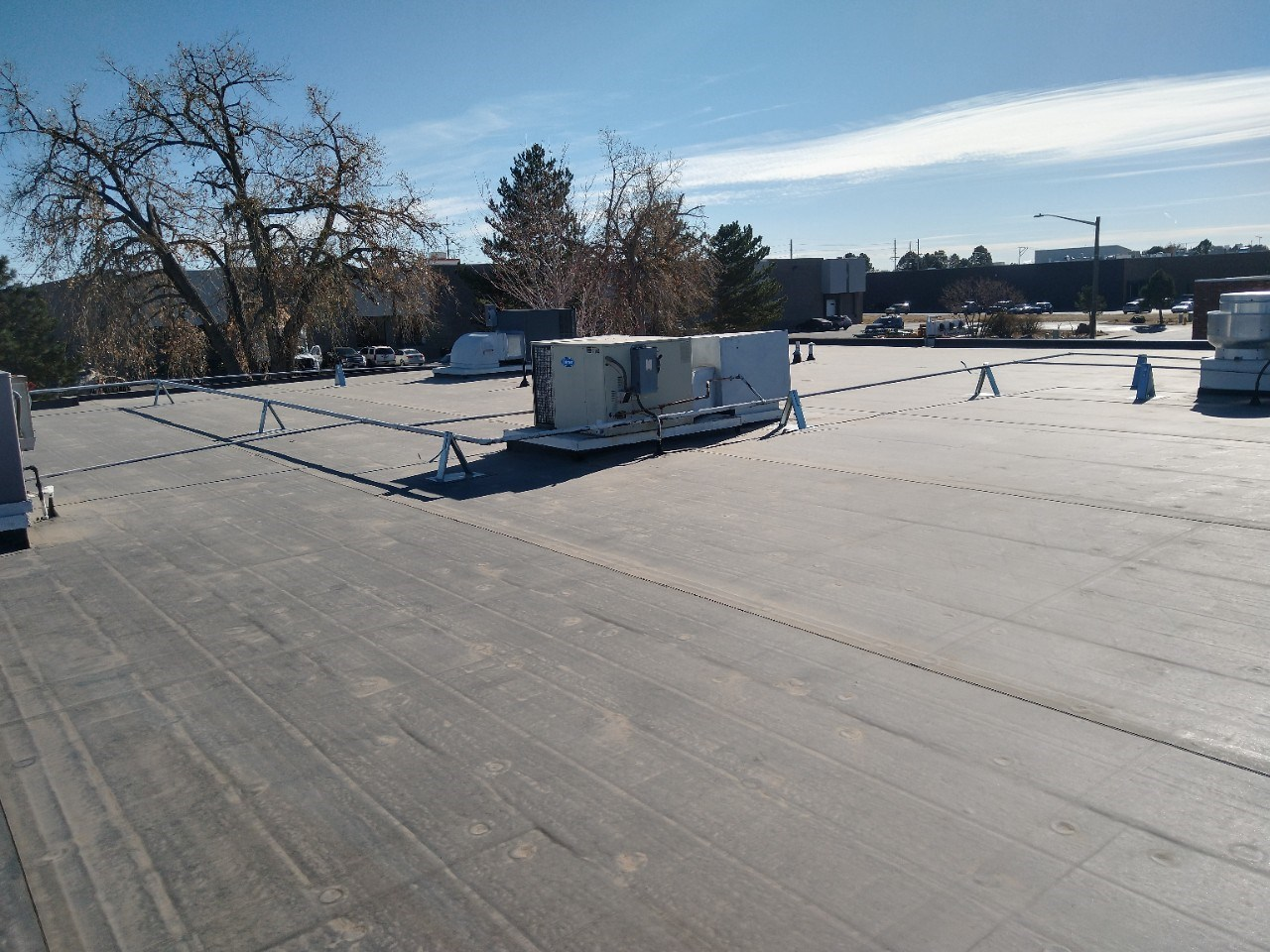Full EPDM replacement and Metal Awning Install )