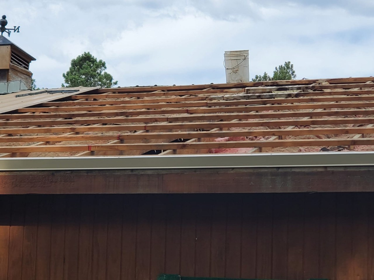 Full replacement of metal panels and weather vanes due to hail damage