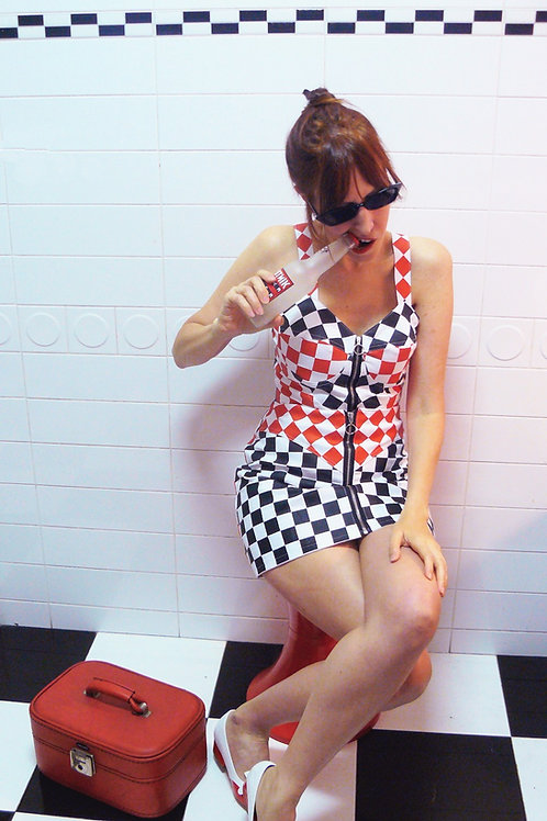 Vilma Skirt Zipper Checkered