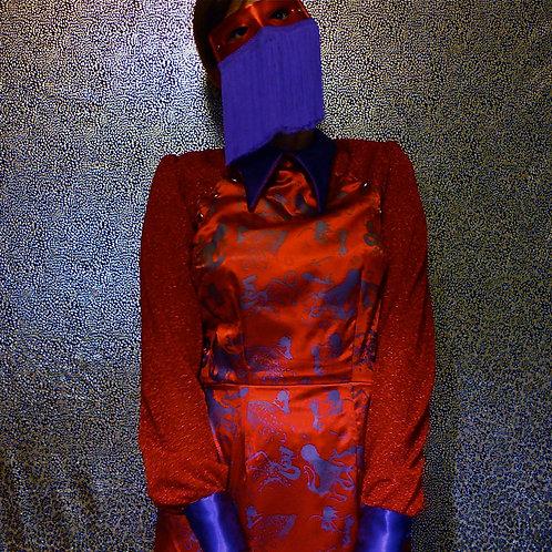Optopussy Western Satin Dress