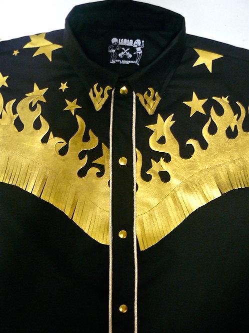 Western Lady Wanda Stars & Golden Flames