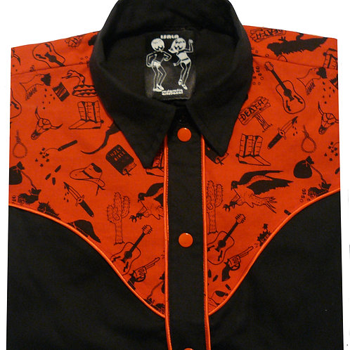 Western Rodeo Shirt Wild West Bicolor