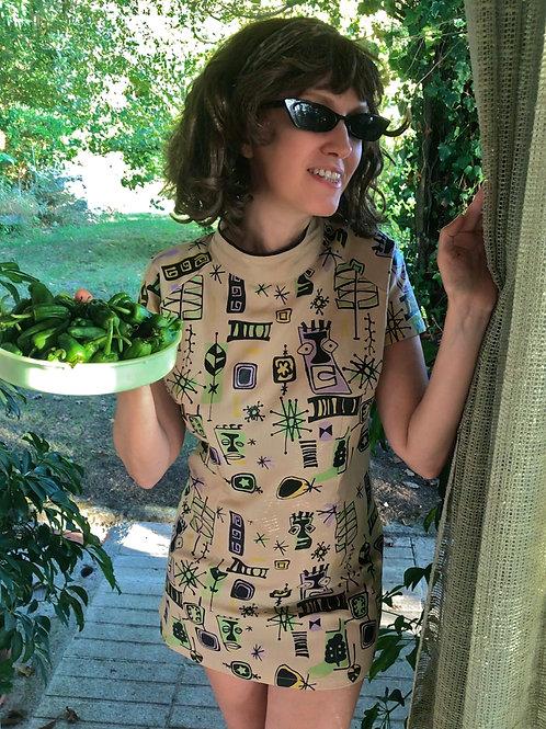 Betty Tiki Mini Dress