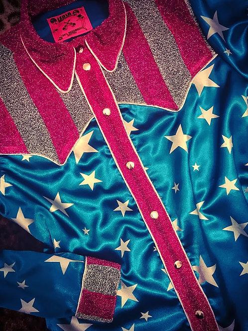 R&R Circus L.A Stars Western Satin Shirt