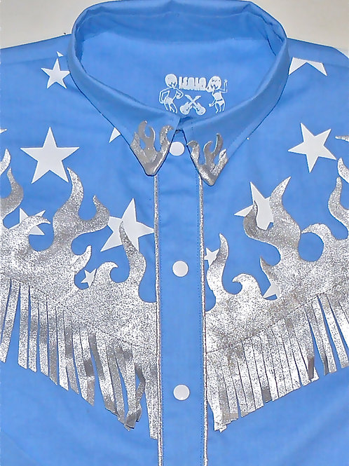 Western Lady Wanda Stars & Silver Flames
