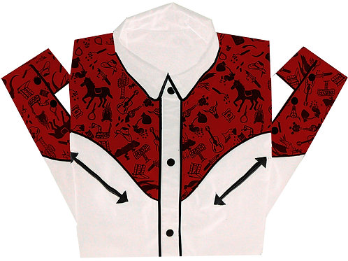 Western Rodeo Shirt Wild West Tricolor
