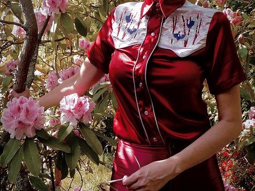 Shamisen Western Satin Shirt