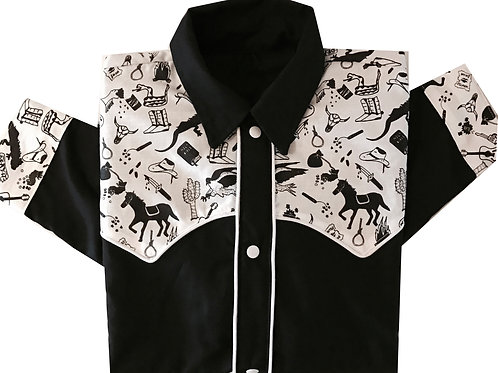 Western Cowboy Shirt Wild West Bicolor