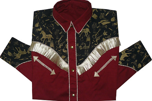 Western Rodeo Shirt Fringes Wild West