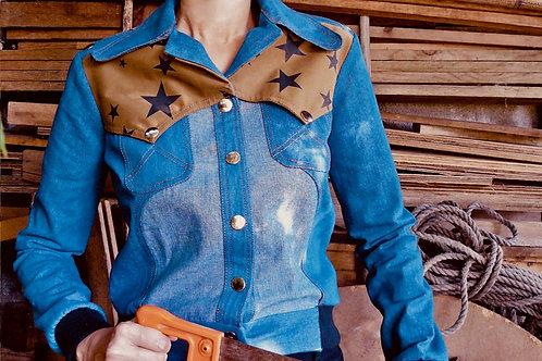 Debbie Western Jacket Blue Denim