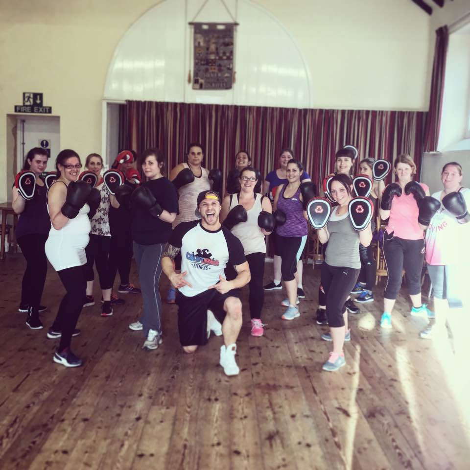 Our first Boxercise class