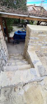 Création escalier pierre