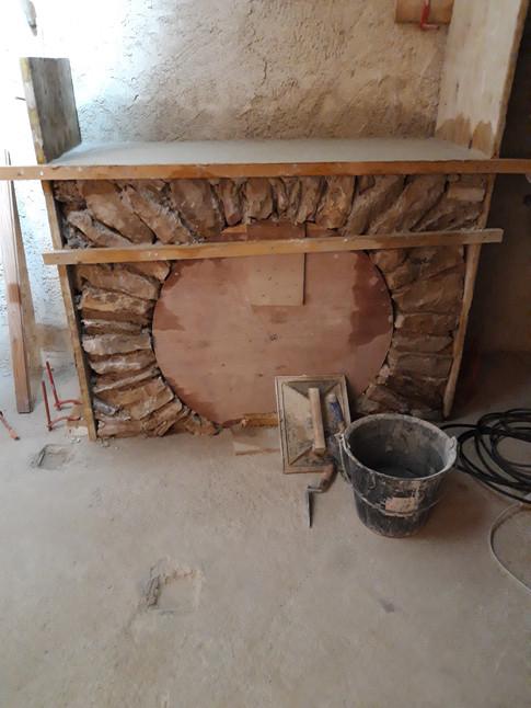 Coffrage niche à bois