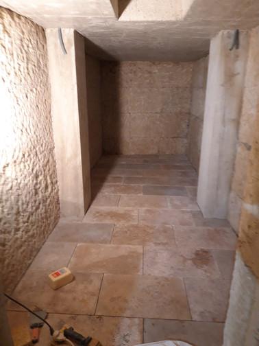 Cave dallage Travertin