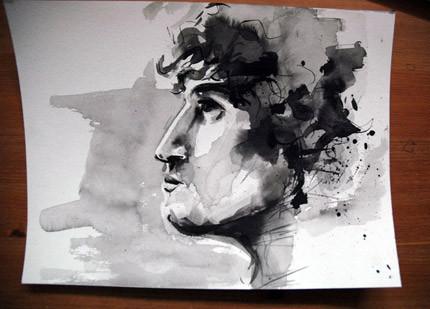 Dana, watercolour