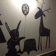 kids room mural, CZ