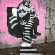 Grandmo, street painting, CZ