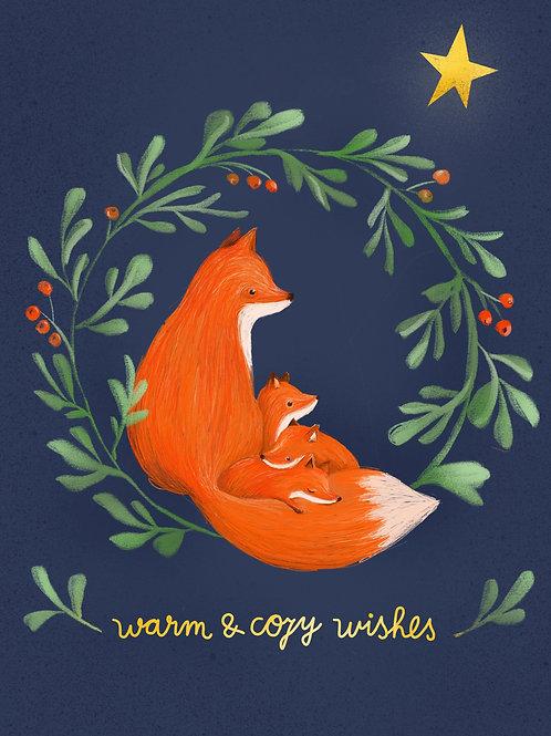 fox family-printable file