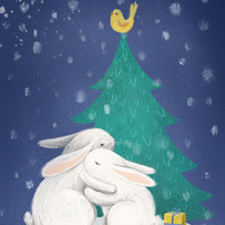 bunnies digital illustration