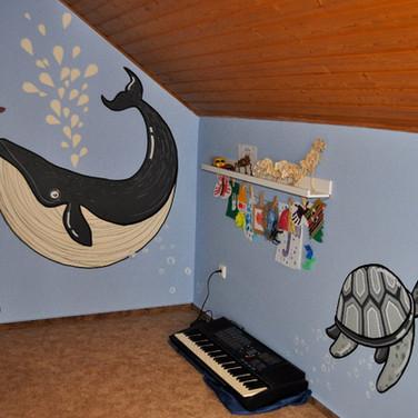room mural, CZ