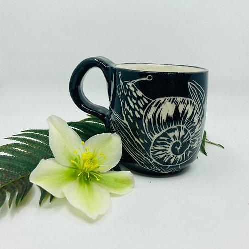 black snail mug