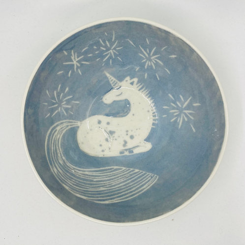 unicorn grey bowl
