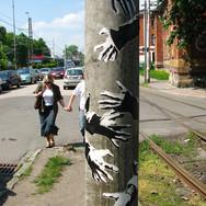 Urban hug, street painting, CZ