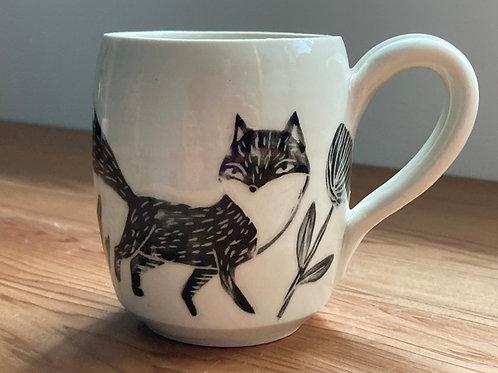 fox n bunnies mug