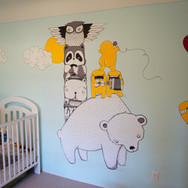 room mural, Victoria BC