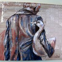 goose, acrylic