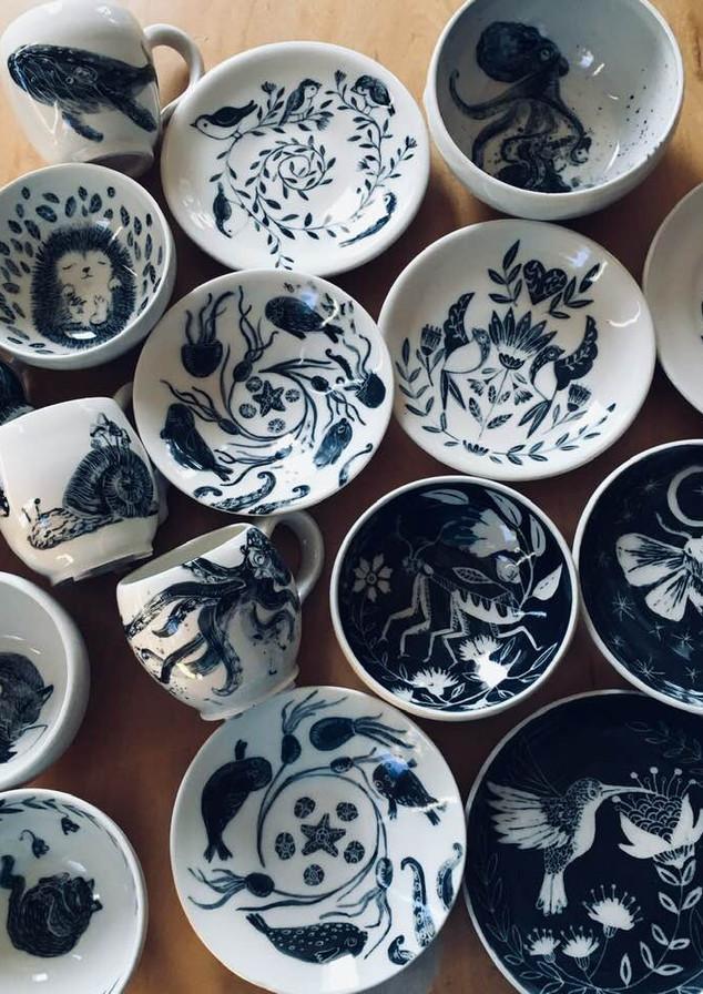 porcelain dishes