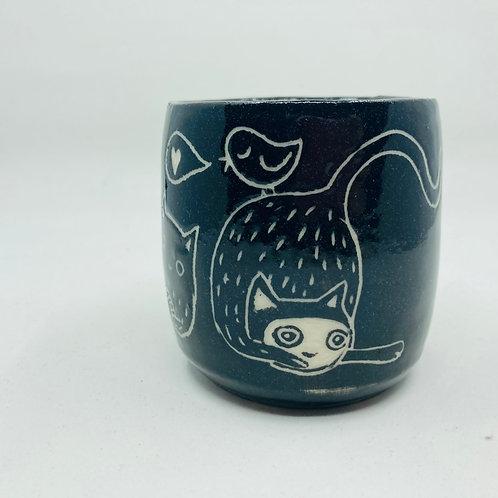 cat cup (no handle)
