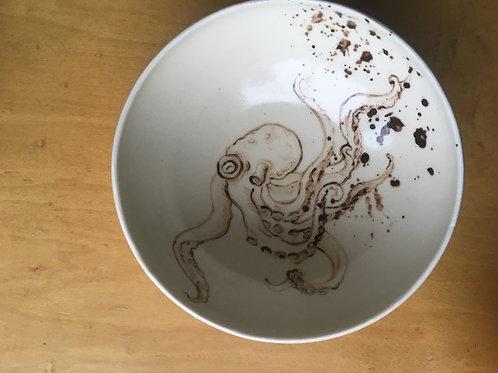 octopus porcelain bowl