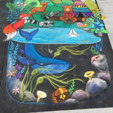chalk art festival, Victoria BC 2018
