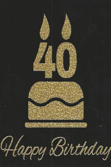 HB 40 anni glitter BC 115