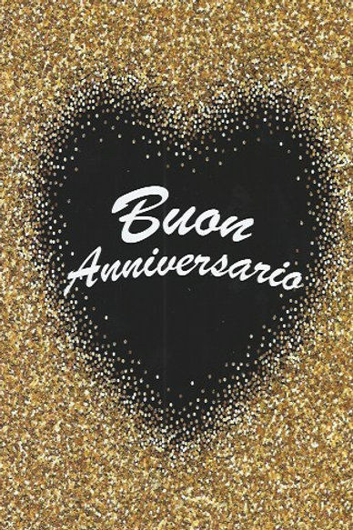 Buon Anniversario glitter BC 114