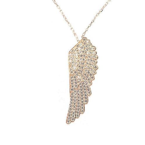 Salon Barber Angel Wings Necklace