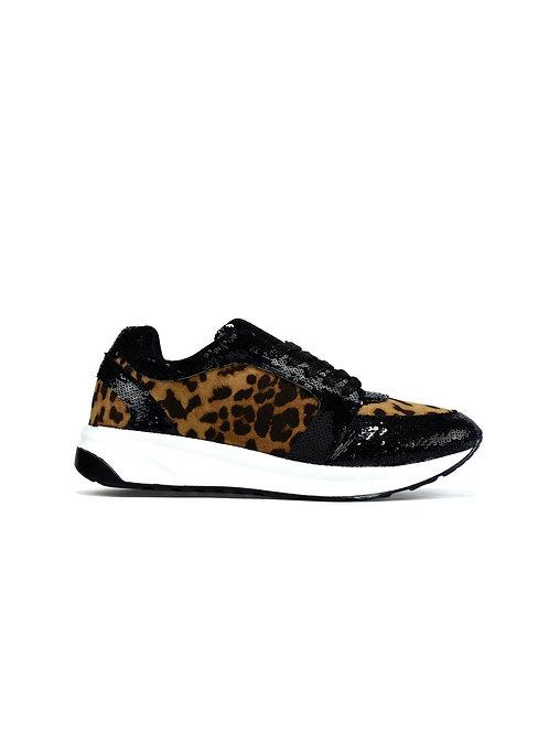 Modern Ladies leopard print trainers