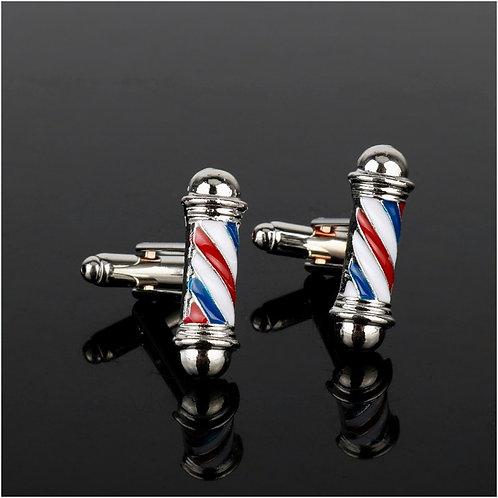 Barberpole cufflinks