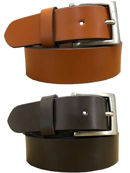 Leather Tan Brown & Dark Brown (Set of 2 Belts)